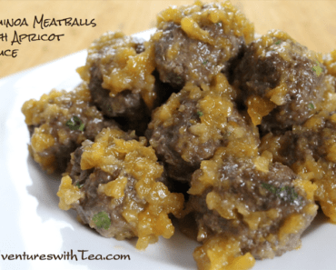 Quinoa Meatballs with Apricot Sauce