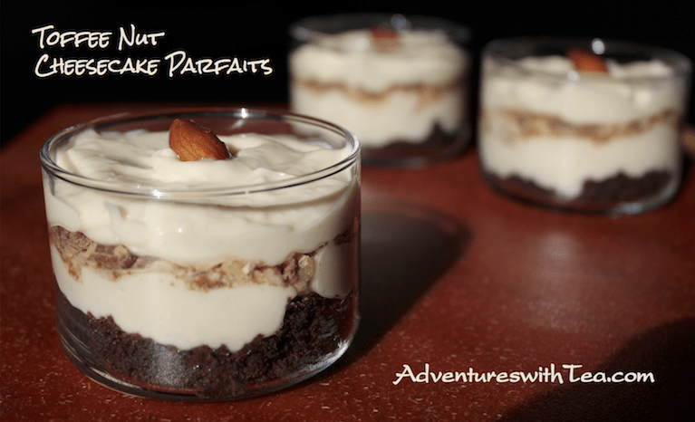Toffee Nut Cheesecake Parfaits
