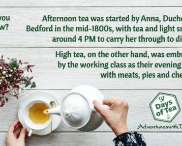 Afternoon Tea vs. High Tea