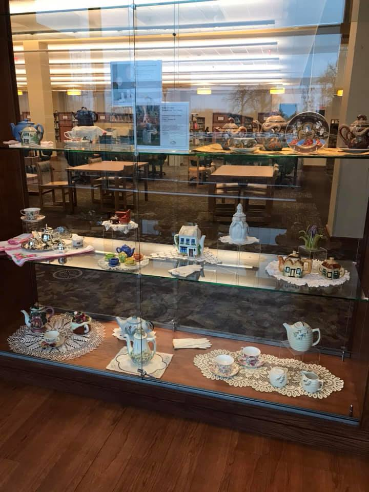 Tea Around the World display at Woodneath Library