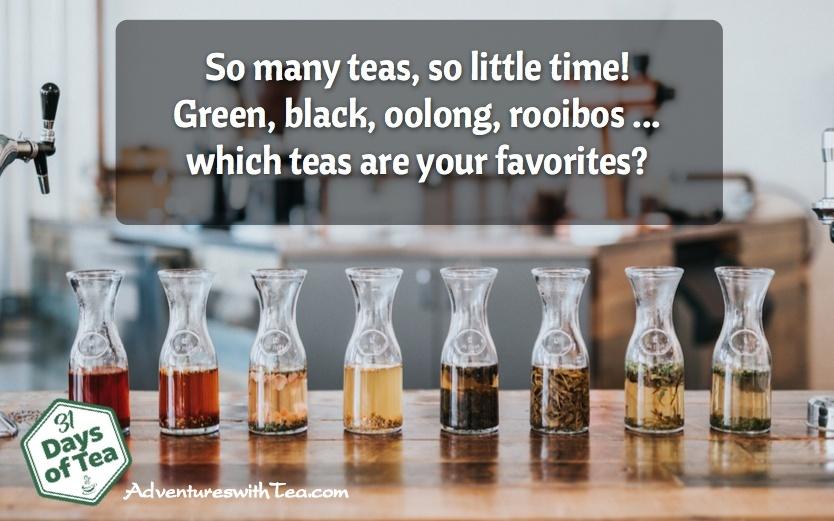 Favorite types of tea