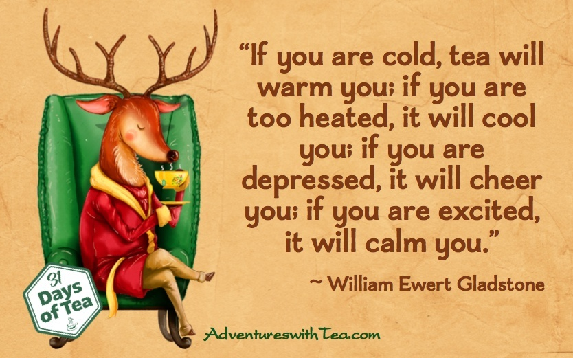 Tea warms & cools quote